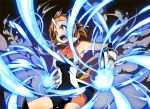 bike_shorts gauntlets glowing headphones open_mouth orange_eyes orange_hair senki_zesshou_symphogear suiya tachibana_hibiki_(symphogear)