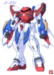 artist_name fusion g_gundam god_gundam gundam haganef mecha mobile_suit_gundam no_humans red_eyes solo z'gok