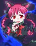 braid cat_ears hands kaenbyou_rin matyinging red_eyes tongue touhou twin_braids