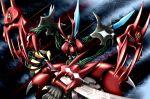claws demon highres intuos9 katana mecha persoenlichkeit reflection solo super_robot_wars sword weapon