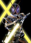 kamen_rider kamen_rider_555 kamen_rider_kaixa maru(pixiv587569) maru_(pixiv587569) sword weapon