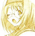 isao_(bb) kampfer mishima_akane monochrome yellow