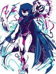 bare_legs dc_comics hood leotard raven_(dc) raven_(teen_titans) solo teen_titans tegaki turpentine_(artist)