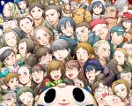 6+girls absolutely_everyone adachi_tooru amagi_yukiko black_hair blonde_hair blue_hair brown_eyes brown_hair cabbie_hat character_request doujima_nanako doujima_ryoutarou ebihara_ai everyone extra food_delivery_box fox glasses grey_hair hanamura_yousuke hat head_scarf highres ichijou_kou igor izanami jacket kashiwagi_noriko konishi_naoki konishi_saki kubo_mitsuo kujikawa_rise kuma_(persona_4) kuroda_hisano long_hair margaret marie_(persona_4) master_daidara matsunaga_ayane minami_eri morooka_kinshiro morooka_kinshirou multiple_boys multiple_girls nagase_daisuke nakajima_shu nakamura_aika namatame_tarou narukami_yuu ootani_hanako ozawa_yumi persona persona_4 persona_4_the_golden satonaka_chie school_uniform shirogane_naoto shiroku_store_owner short_hair spoilers t0kiwa tatsumi_kanji uehara_sayoko yellow_eyes