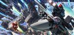 armd armd-1 armor battle boxart cannon choujikuu_yousai_macross cockpit condensation_trail damaged earth epic fleet helmet ichijou_hikaru itano_circus macross macross:_do_you_remember_love? maximilian_jenius mecha meltrandi millia_jenius missile nupetiet-vergnitzs official_art oldschool orbit pilot_suit planet power_armor queadluun-rau quimeliquola realistic science_fiction sdf-1 space space_craft spacesuit storm_attacker tenjin_hidetaka u.n._spacy vf-1 vf-1_strike vf-1s zentradi