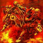 city epic fire firefighter highres igunuk italian matoi mecha original realistic science_fiction