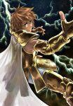 armor blue_eyes brown_hair cape full_armor leo_regulus male saint_seiya saint_seiya:_the_lost_canvas short_hair solo