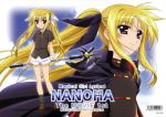 absurdres bardiche blonde_hair fate_testarossa hair_ribbon highres mahou_shoujo_lyrical_nanoha mahou_shoujo_lyrical_nanoha_the_movie_1st okuda_yasuhiro red_eyes ribbon twintails