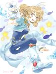 48725 blue_nails bodysuit bolero boots brown_eyes brown_hair corrector_yui cropped_jacket kasuga_yui nail_polish short_hair smile solo star