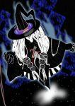 hat highres homulilly kouchikubutsu long_hair mahou_shoujo_madoka_magica record solo white_hair witch_(madoka_magica) witch_hat