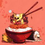 animal arceus bowl chopsticks food giratina kabocha_torute lowres male masu minimized nattou no_humans pokefood pokemon pokemon_(creature) pokemon_(game) pokemon_dppt rice sushi sushi_roll trembling