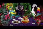 cake candeloro cup dessert food homulilly kiribu_mekki kriemhild_gretchen kyubey madoka_runes mahou_shoujo_madoka_magica no_humans official_style oktavia_von_seckendorff ophelia_(madoka_magica) parody spoilers table tea tea_party teacup witch's_labyrinth witch's_labyrinth witch_(madoka_magica)