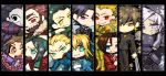 armor assassin_(fate/zero) berserker_(fate/zero) black_eyes black_keys blonde_hair blue_eyes caster_(fate/zero) chibi cross earrings emiya_kiritsugu everyone fate/zero fate_(series) gate_of_babylon green_eyes intestines jewelry kayneth_archibald_el-melloi kotomine_kirei lancer_(fate/zero) mask matou_kariya moromie-mizu necklace orange_hair rider_(fate/zero) saber tohsaka_tokiomi toosaka_tokiomi uryuu_ryuunosuke waver_velvet wine yellow_eyes