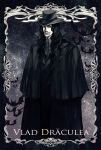 bat black_hair cape copyright_request dracula facial_hair gothic highres long_hair male moon necktie nicole solo