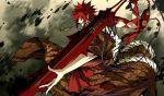 g_yuusuke kajiri_kamui_kagura red_hair redhead sakagami_habaki smoking sword weapon