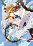 blonde_hair blue_eyes hat highres mishaguji moriya's_iron_rings moriya_suwako snake solo thighhighs tora_jun touhou white_legwear white_snake