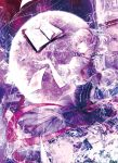 blonde_hair book capelet cercis corset dress eyelashes flying_paper frills gathers hairband lace light_particles lips mirror paper pose reflection ribbon short_hair short_sleeves touhou