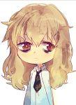 bags_under_eyes brown_hair kiyama_harumi lowres naye necktie solo to_aru_kagaku_no_railgun to_aru_majutsu_no_index
