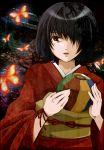 bad_id ball black_hair butterfly fatal_frame fatal_frame_2 fatal_frame_ii hair_over_one_eye japanese_clothes joba_(neoki) kimono lips obi rattle short_hair solo tachibana_chitose tears