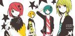 gumiya hatsune_mikuo kagamine_rinto male megurine_luki short_hair stars uni_(kokoromikun) vocaloid white