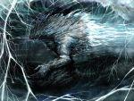 commentary_request dying highres lightning solo storm toguro_otouto yuu_yuu_hakusho