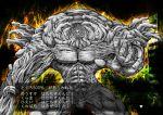 aula aura blastbeat commentary_request grey_skin male monster muscle pixiv solo toguro_otouto yuu_yuu_hakusho