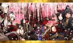 black_hair g_yuusuke kajiri_kamui_kagura koga_rindou kujou_shiori kyougetsu_keishirou kyougetsu_sakuya long_hair madara_yakou mibu_soujirou mikado_ryuusui red_hair redhead sakagami_habaki sword weapon white_hair