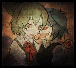 blue_hair cirno creepy cyclops drooling hair_ribbon heart multiple_girls one-eyed ribbon sharp_teeth short_hair spoken_heart tatara_kogasa tongue touhou wings yam-potong