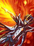 armor artist_name character_request dated glowing glowing_hand kaneko_tsukasa male mask phoenix_ikki saint_seiya saint_seiya_omega signature solo