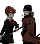 aragaki_shinjirou bad_id beanie bow female_protagonist_(persona_3) hat persona persona_3 persona_3_portable school_uniform trench_coat trenchcoat tsugu