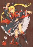 blonde_hair blood gii gothic_lolita knife lolita_fashion misumimu rachel_alucard red_eyes twintails