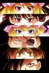 3girls absurdres black_hair blonde_hair blue_eyes brown_eyes brown_hair chen crossover eyepatch eyes fullmetal_alchemist greed green_eyes hat highres homunculus king_bradley ling_yao multiple_boys multiple_girls nin_(female) persona_eyes pride purple_eyes red_eyes selim_bradley spoilers touhou violet_eyes wrath yakumo_ran yakumo_yukari