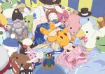1girl animal_ears bed bird bunny buster-kun cat cat_ears character_doll dennou_coil doll domo-kun dragon_quest glasses goose gunbird hebe hebereke highres king_slime mameshiba_(character) moomin moominpappa moyashimon nintendo nippon_housou_kyoukai original oryzae-tan oyaji pig pingu pink_hair portal rabbit ribbon school_uniform serafuku shiwasu_takashi solo stuffed_animal stuffed_toy the_pillows weighted_companion_cube yoshi
