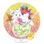castform cherubi cup duosion luvdisc munna nigo no_humans pikachu pokefood pokemon pokemon_(creature) reuniclus solosis spoon starmie staryu vanillite vanilluxe