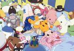 animal_ears buster-kun catgirl companion_cube glasses mario_bros. moyashimon pink_hair portal seifuku shiwasu_takashi thigh-highs thighhighs yoshi