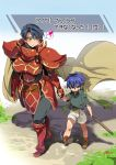 age_difference armor blue_eyes blue_hair breasts cape child fire_emblem fire_emblem:_akatsuki_no_megami genderswap headband ike large_breasts short_hair smile translation_request yajiro_masaru young zelgius