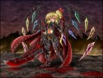 armor blackmorass blood blood_on_face fangs flandre_scarlet highres parody red_eyes solo sword touhou warcraft weapon world_of_warcraft