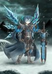 alternate_weapon armor blackmorass blue_eyes cirno death_knight highres parody solo sword touhou warcraft weapon winter world_of_warcraft