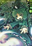 dress green_dress green_eyes green_hair hat koohee soga_no_tojiko solo touhou