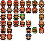 6+girls alternate_costume araragi_(pokemon) backwards_hat baseball_cap beard bel_(pokemon) black_dress black_hair blonde_hair blue_(pokemon) blue_(pokemon)_(classic) blue_hair chart cheren_(pokemon) comparison crystal_(pokemon) dress dual_persona everyone facial_hair female_protagonist_(pokemon_bw2) glasses gold_(pokemon) haruka_(pokemon) haruka_(pokemon_emerald) hat hikari_(pokemon) hue_(pokemon) kotone_(pokemon) kouki_(pokemon) kyouhei_(pokemon) labcoat liblu lowres male_protagonist_(pokemon_bw2) mei_(pokemon) multiple_boys multiple_girls nanakamado_(pokemon) odamaki_(pokemon) official_style ookido_green ookido_green_(classic) ookido_green_(frlg) ookido_yukinari pantyhose pixel_art pointy_hair pokemon pokemon_(game) pokemon_bw pokemon_bw2 pokemon_dppt pokemon_frlg pokemon_gsc pokemon_hgss pokemon_rgby pokemon_rse red_(pokemon) red_(pokemon)_(classic) red_(pokemon)_(remake) red_hair rival_(pokemon_bw2) scowl silver_(pokemon) spiked_hair touko_(pokemon) touya_(pokemon) transparent_background utsugi_(pokemon) winter_clothes yuuki_(pokemon) yuuki_(pokemon_emerald)