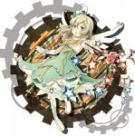 alternate_color blonde_hair bolero boots cropped_jacket dress elise_lutus frills gem green_dress green_eyes short_hair solo star suduke tales_of_(series) tales_of_xillia wand wings