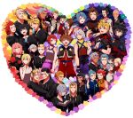 6+boys 6+girls ansem_seeker_of_darkness ansem_the_wise aqua_(kingdom_hearts) axel bald beard black_hair blonde_hair blue_hair book brown_hair card cloak closed_eyes dark_skin demyx dual_persona earrings everyone eyepatch eyes_closed facial_hair facial_mark flower food gloves green_eyes hair_over_one_eye hand_holding hayner heartless highres holding_hands ice_cream ienzo isa_(kingdom_hearts) jewelry kairi kingdom_hearts kingdom_hearts_358/2_days kingdom_hearts_birth_by_sleep larxene lea_(kingdom_hearts) lexaeus luxord marluxia master_eraqus master_xehanort multiple_boys multiple_girls namine nobody_(kingdom_hearts) olette pence pink_hair pointy_ears ponytail purple_eyes red_hair redhead riku riku_replica roxas saix sana423 scar short_hair silver_hair sora_(kingdom_hearts) spoilers terra_(kingdom_hearts) unversed vanitas ventus vexen violet_eyes wink xaldin xemnas xigbar xion_(kingdom_hearts) yellow_eyes zexion