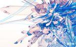 aoki_reika blue_hair cure_beauty ochakai_shinya precure pretty_cure smile_precure! sword weapon