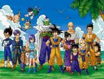 6+boys :d ^_^ armor bald beach beard belt bird black_hair blue_hair boots bulma cape chaozu chichi closed_eyes cloud clouds crossed_arms dougi dragon_ball dragon_ball_(object) dragon_ball_z dragonball_z everyone eyes_closed facial_hair flying gloves grass green_skin grin hand_on_hip hand_on_shoulder hips jacket kuririn multiple_boys multiple_girls muscle muten_roushi oolong open_mouth outdoors palm_tree piccolo puar sandals seagull shiro_mame shoes smile son_gohan son_gokuu spiked_hair spiky_hair sunglasses sweatdrop sword tail teeth tenshinhan third_eye thumbs_up tree trunks_(dragon_ball) turban v vegeta water waving weapon yajirobe yamcha