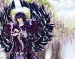 armor black_hair garuda_aiacos male saint_seiya saint_seiya:_the_lost_canvas solo yellow_eyes