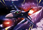 ace_combat_5 airplane battle drop drop_tank dutch_angle explosion f-2 fighter_jet flying hrimfaxi ice jet missile night night_sky ocean perspective pilot sky submarine tracer_bullets zephyr164