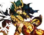 black_hair cape capricorn_el_cid cimeri male saint_seiya saint_seiya:_the_lost_canvas short_hair solo