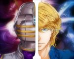 blonde_hair blue_eyes dual_persona helmet keith_goodman male namami_(ultra7-m78) short_hair sky_high solo superhero tiger_&_bunny