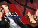 brown_eyes brown_hair dual_persona kzi_k mask multiple_boys necktie persona persona_2 school_uniform suou_tatsuya