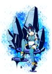 blue blue_eyes capcom fairy_leviathan female girl guardian_of_the_sea guardians_of_master_x guardians_of_neo_arcadia gynoid helmet ice leviathan leviathan_(megaman) leviathan_(rockman) megaman_zero mmz neo_arcadia reploid rmz robot rockman rockman_zero sitting thigh-highs water woman